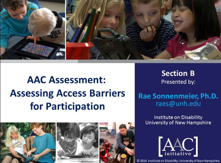 Video of the Week: More on Assessing Barriers to Access for AAC Learners