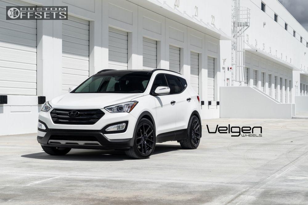 12 2015 Santa Fe Hyundai Dropped 1 3 Velgen Wheels Vmb5 Black Flush Hyundai Santa Fe 2015 Hyundai Santa Fe Santa Fe