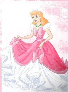 Cinderella looks so beautiful in her mother's dress. If only her ...