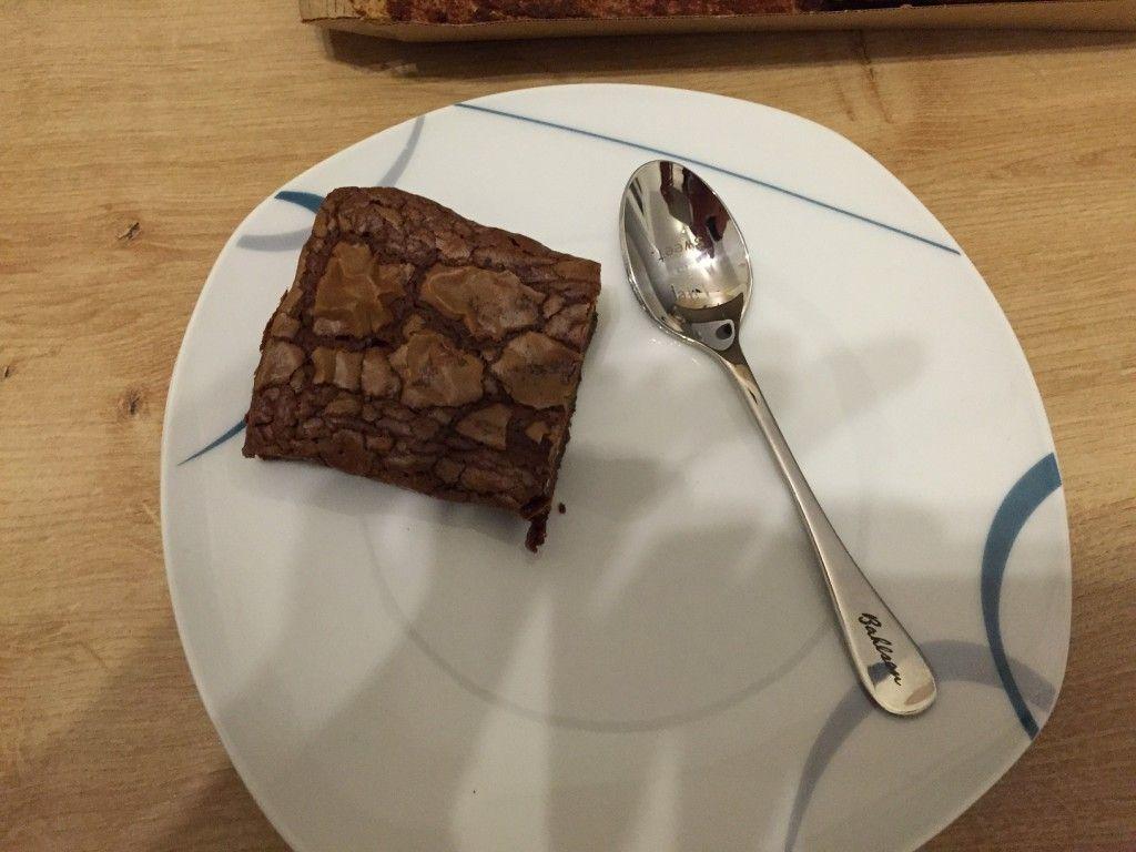 Brownie auf teller