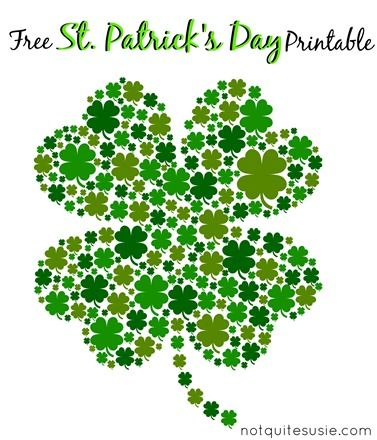 photograph about St Patrick's Day Clover Printable identify Free of charge St. Patricks Working day Shamrock Printable St. Patricks
