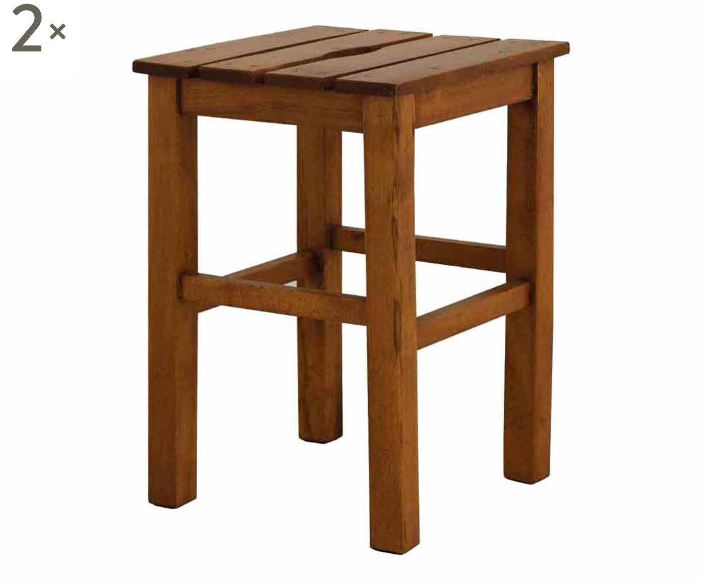 Set di 2 sgabelli in legno sauna 31x31x46 cm idee per casa nuova