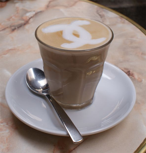 My Kind Of Coffee With A Little Chanel Coffee Art Latte Coffee Love