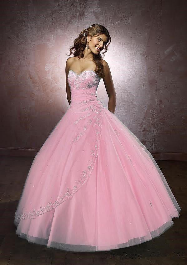 Dulce 16 vestidos Pink Quinceanera Dresses bata de pelota novia ...