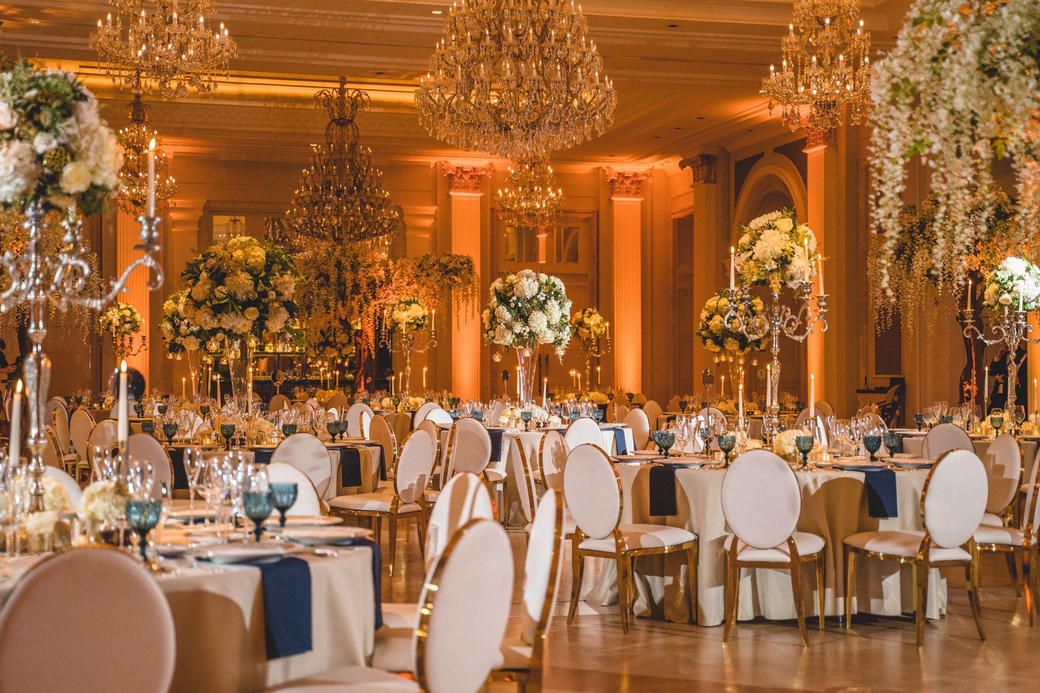Adare Manor Wedding Photos, Ireland - venue decor in the ...