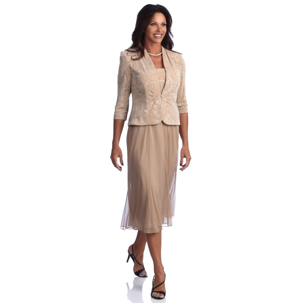 Alex evenings womenus tea length jacket dress overstock