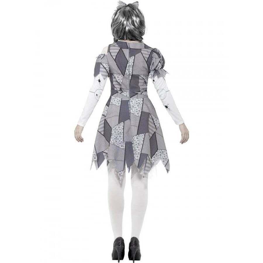 Womens Broken Doll Halloween Horror Fancy Dress Costume
