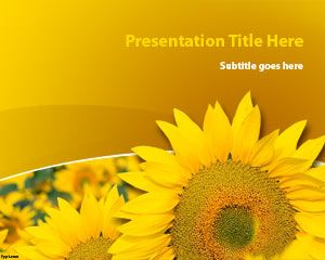 Sunflower Plant PowerPoint Template | Free Powerpoint Templates