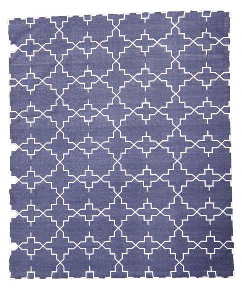 Kangri Cotton Rug Greyish Black Kangri Cotton Bg Design