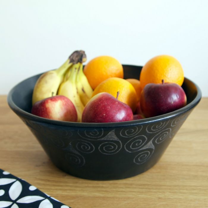 Good These Beautiful Decorative Earthenware Bowls Are Handmade And Hand Etched  In Indonesia. Coloured With
