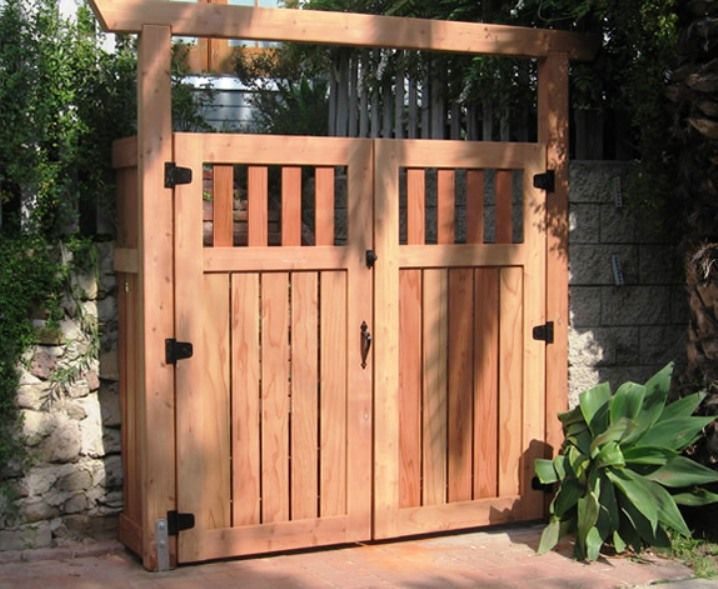 Wood fence gate designs for your garden plans custom wood for Diy fence gate designs