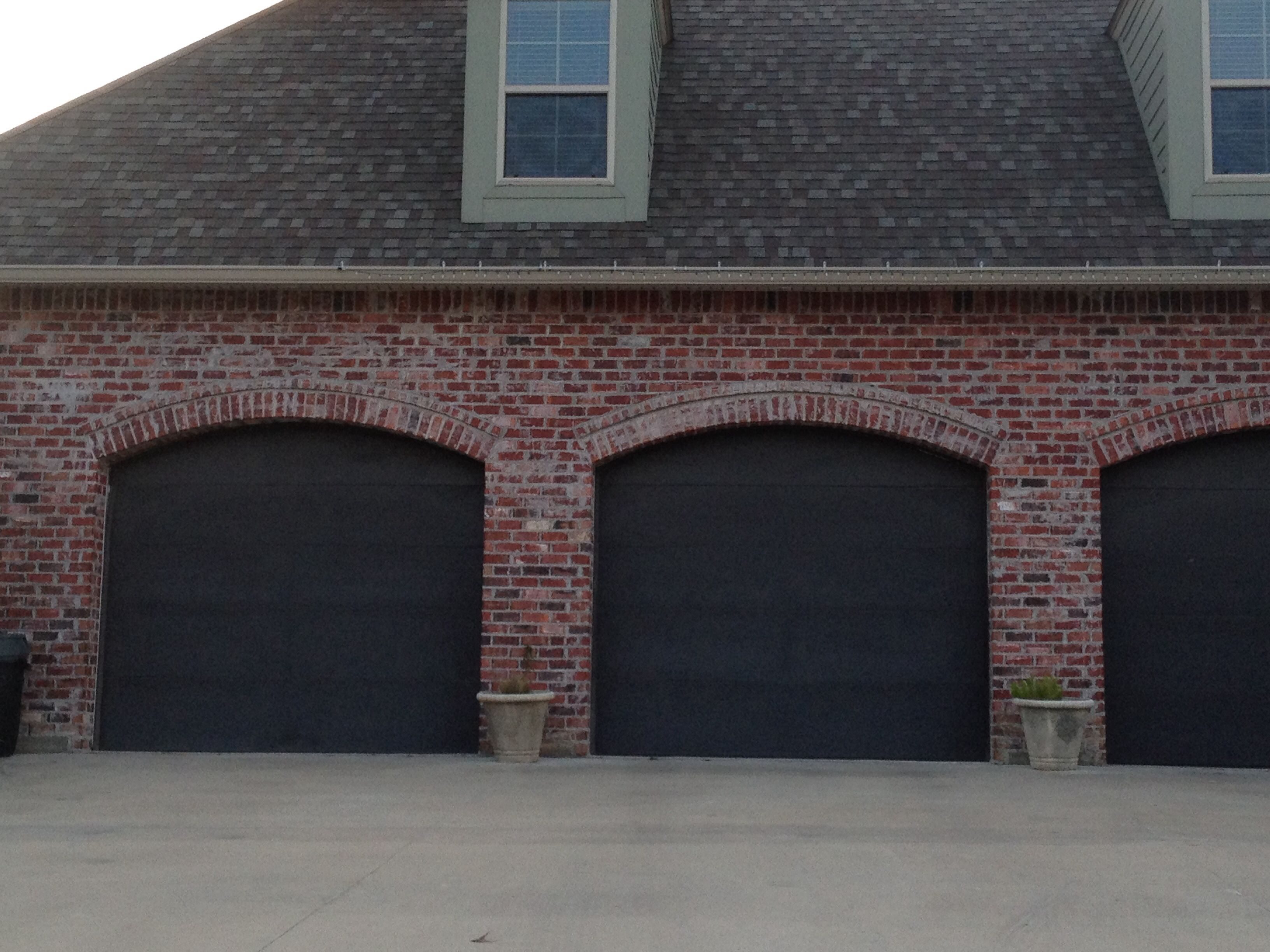 Brick Arched Garage Doors Home Ideas Pinterest Brick Arch Garage Doors And Bricks