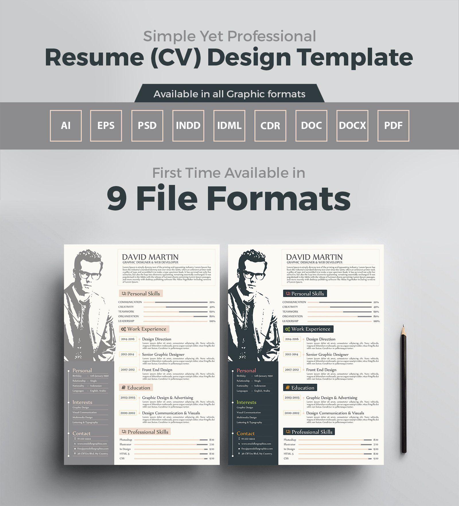25 Graphic Designer Resume Pdf in 2020 Graphic design