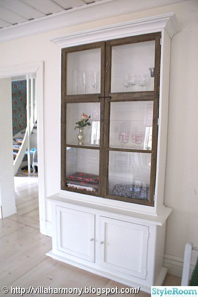 Cabinet made around an old window frame <3 | Old windows | Pinterest ...