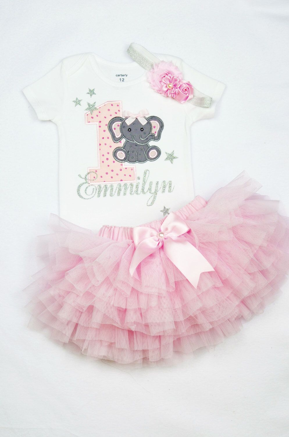 First Birthday Outfit For Baby Girl In Pink And Gold Customized 1st Shirt Ruffle Tutu Diaper Cover Cake Smash Holiday