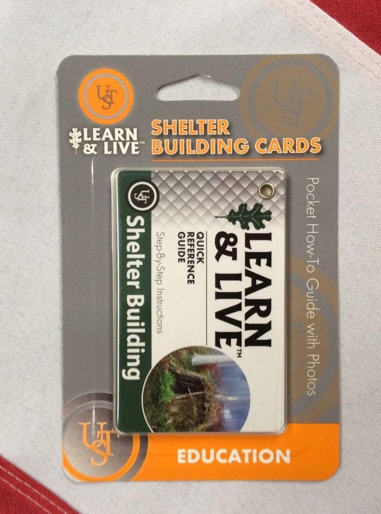 Ust Learn and Live Fire Building Cards Pocket How To Guide with Photos