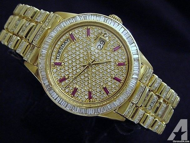 rolex mens 18k gold day date president watch diamonds c high end rolex mens 18k gold day date president watch diamonds c