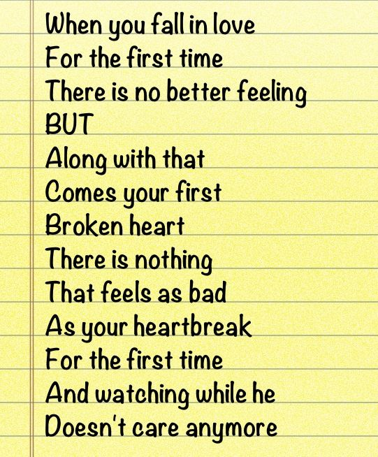 First Love First Heartbreak Love And Heartbreak Qoutes About