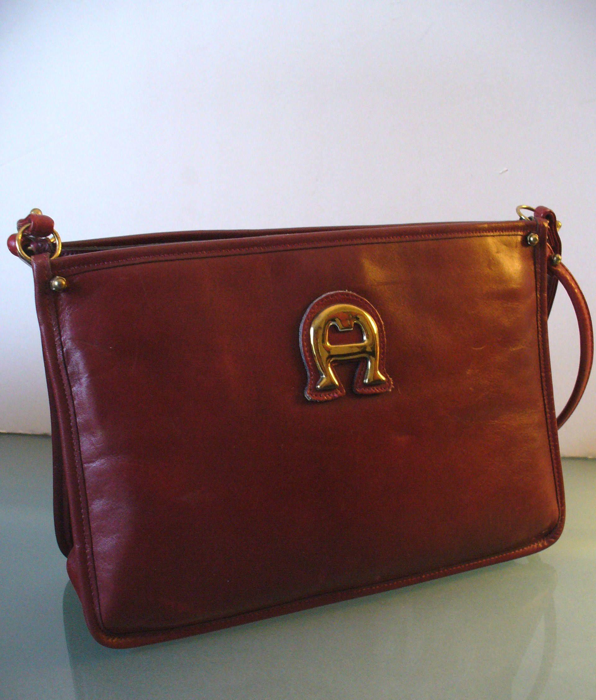 050c56ebf6 Vintage Etienne Aigner Oxblood Shoulder Bag Purse by TheOldBagOnline on Etsy
