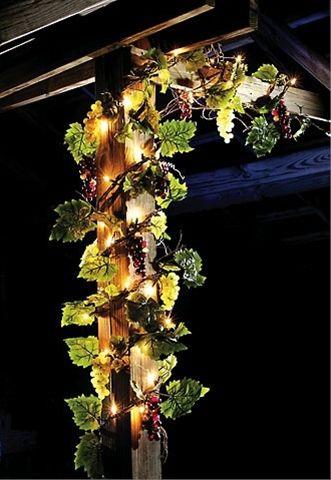 Lighted Grapevine Garland