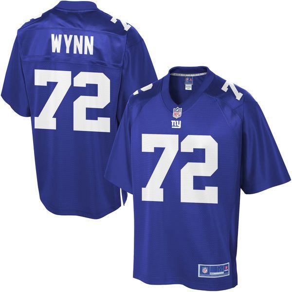 blue nfl pro line mens new york giants kerry wynn team color jersey  99.99