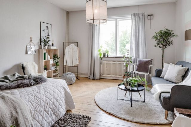 Small Studio Apartment With A Cool Vibe Daily Dream Decor Apartment Bedroom Decor Small Apartment Decorating Apartment Interior