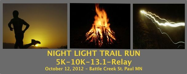 Could be fun....if I don't trip and fall - Nightlight Trail Run