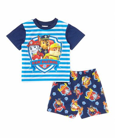5d7fef55a Another great find on  zulily! Blue Stripe PAW Patrol Pajama Set ...