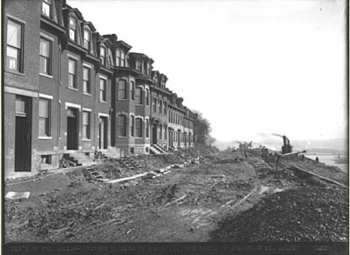 The cost of the Boulevard of the Allies, nearing completion, was