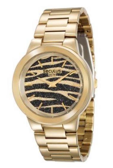 4676d58b2a1 28770LPSVDA1 Relógio Feminino Dourado Seculus Analógico