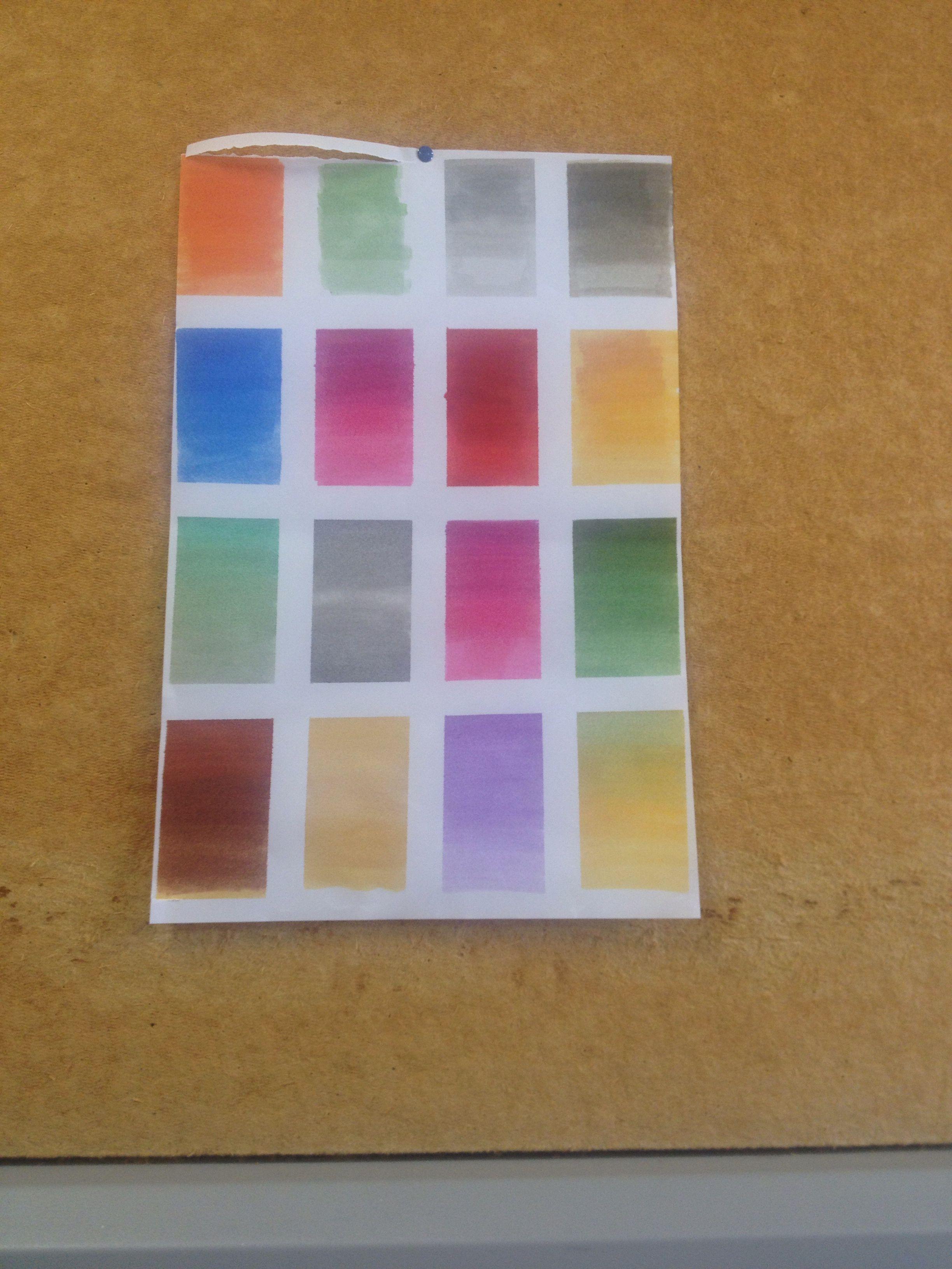 Colores rotuladores
