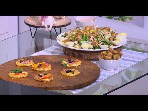 دجاج بوب كورن بوب كورن مع سلطة ميني بيتزا للأطفال زعفران وفانيلا حلقة كاملة Youtube Table Settings