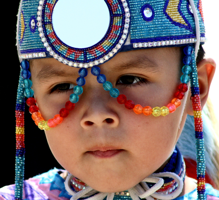 Native American child by Russell C. Stokes