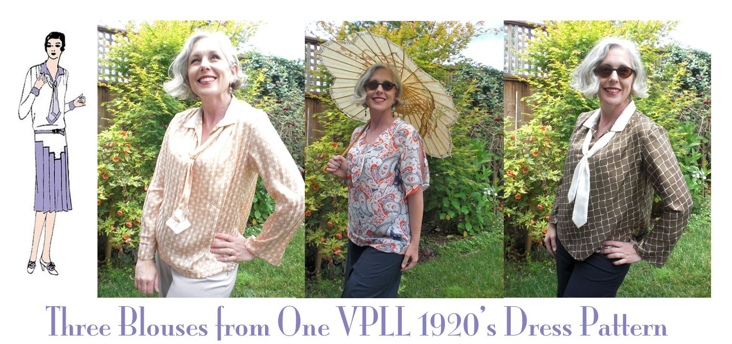 A 1920's Blouse Done 3 ways with One Vintage Dress Pattern – WeSewRetro.com