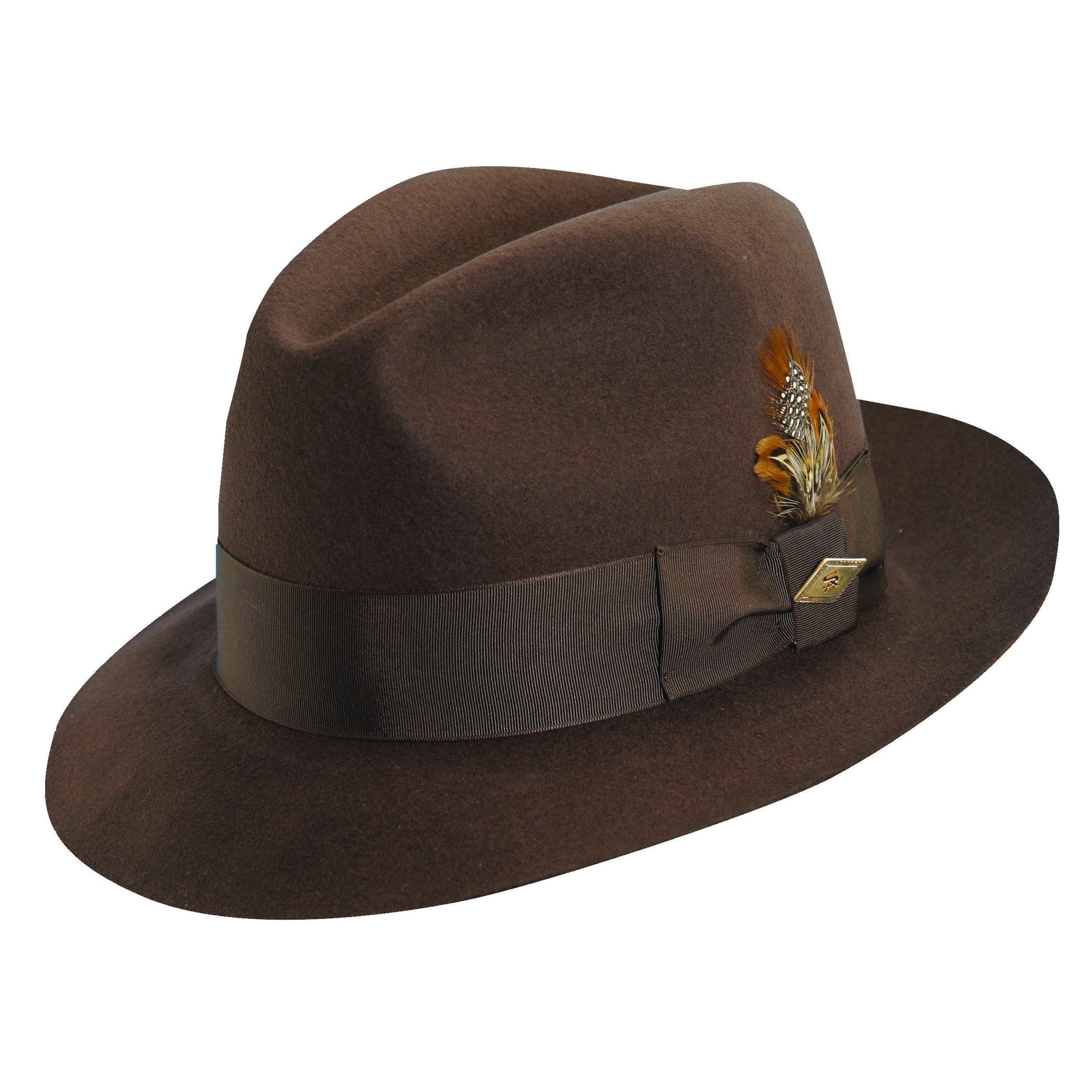 56f4e3d739c Stacy Adams Cannery Row Wool Fedora Hat (Chocolate (Brown)