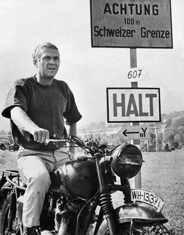 Steve Mcqueen Bilder Fur Die Wand Steve Mcqueen Motorrad Und