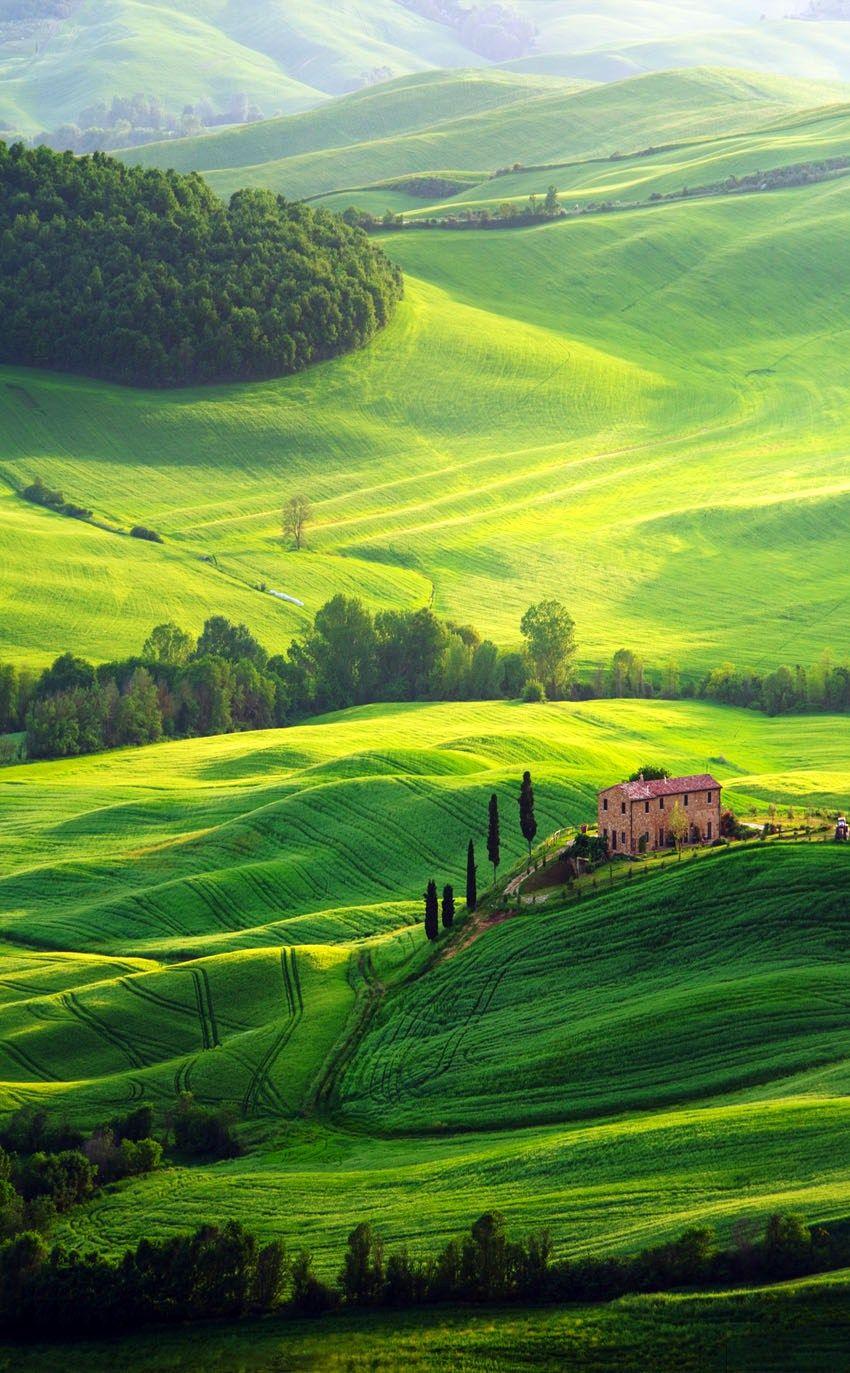 beautiful view of tuscany