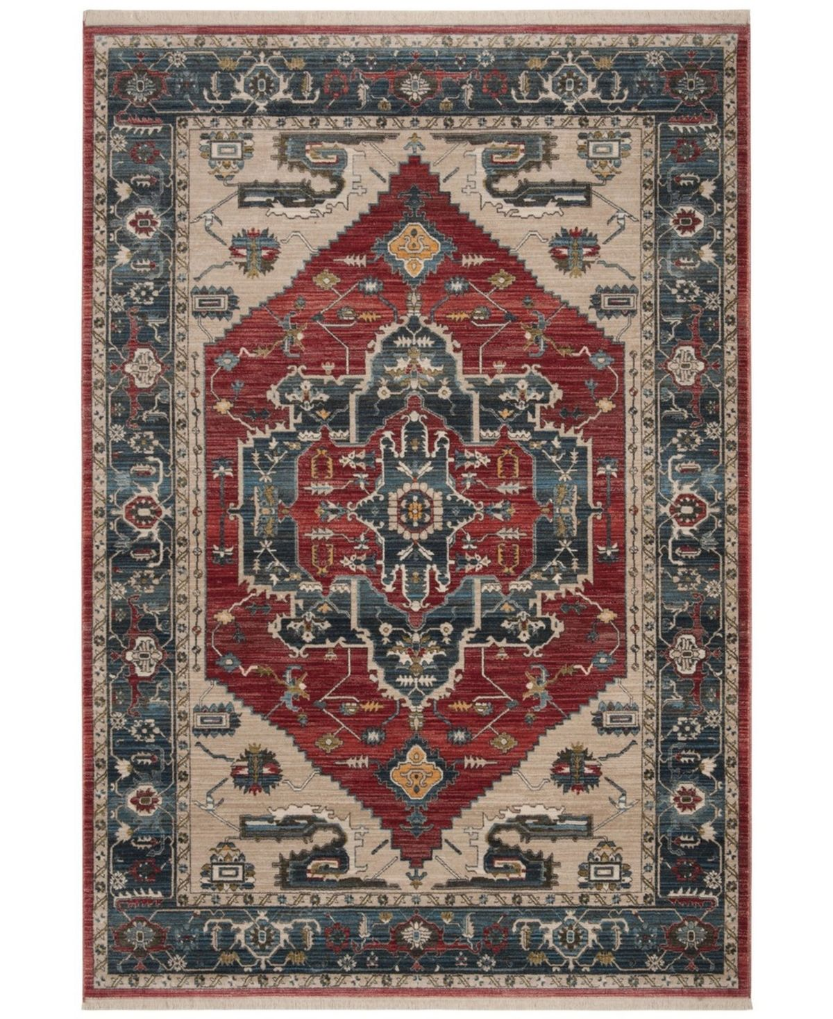Safavieh Vintage Persian Red And Blue 5 X 7 6 Area Rug Red