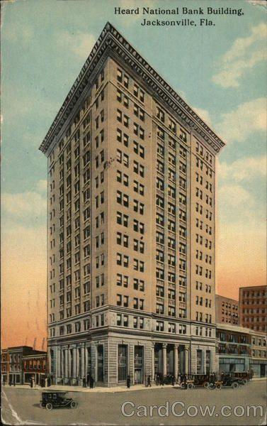 Heard National Bank Building Jacksonville Fl Postcard Banks Building Building Jacksonville