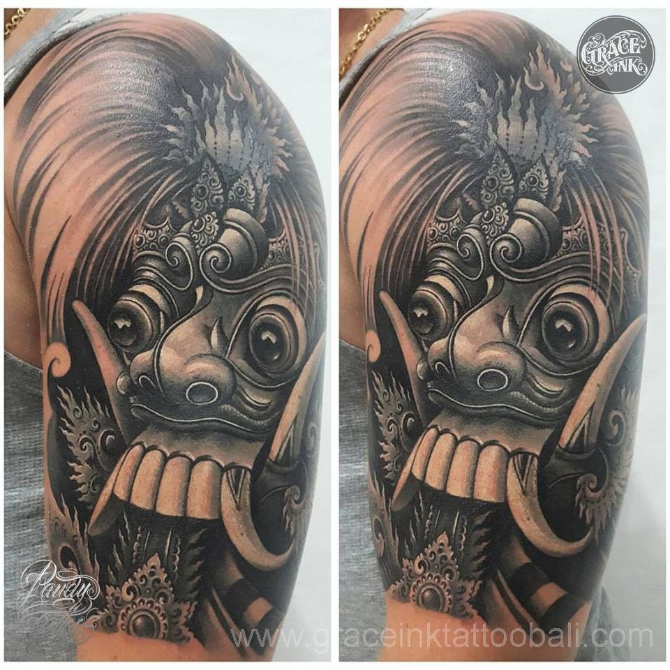 Rangda Tattoo Tato Ganesha Ide Tato Desain Tato