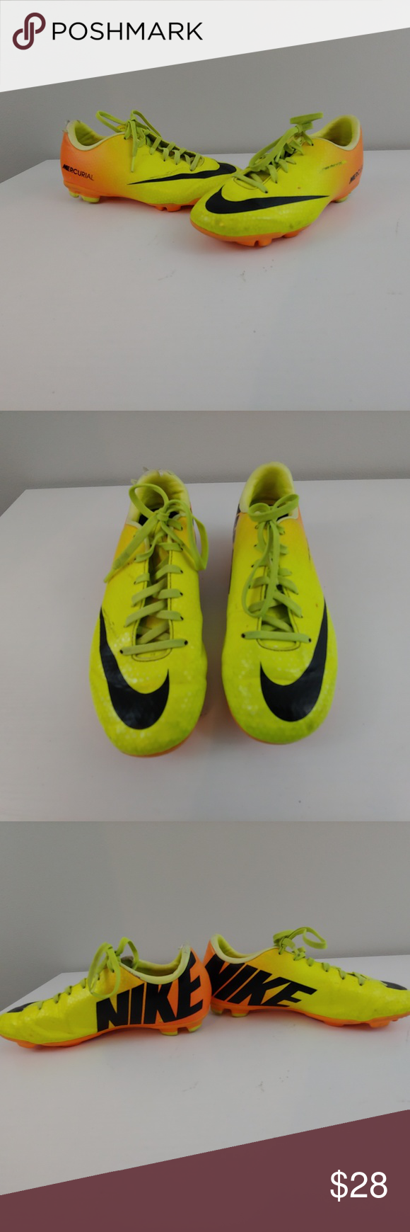 1671fbc66657ce Youth 3 Nike Mercurial 553631-708 cleats neon Youth 3 Nike Mercurial  553631-708 cleats yellow orange neon nonsmoking home