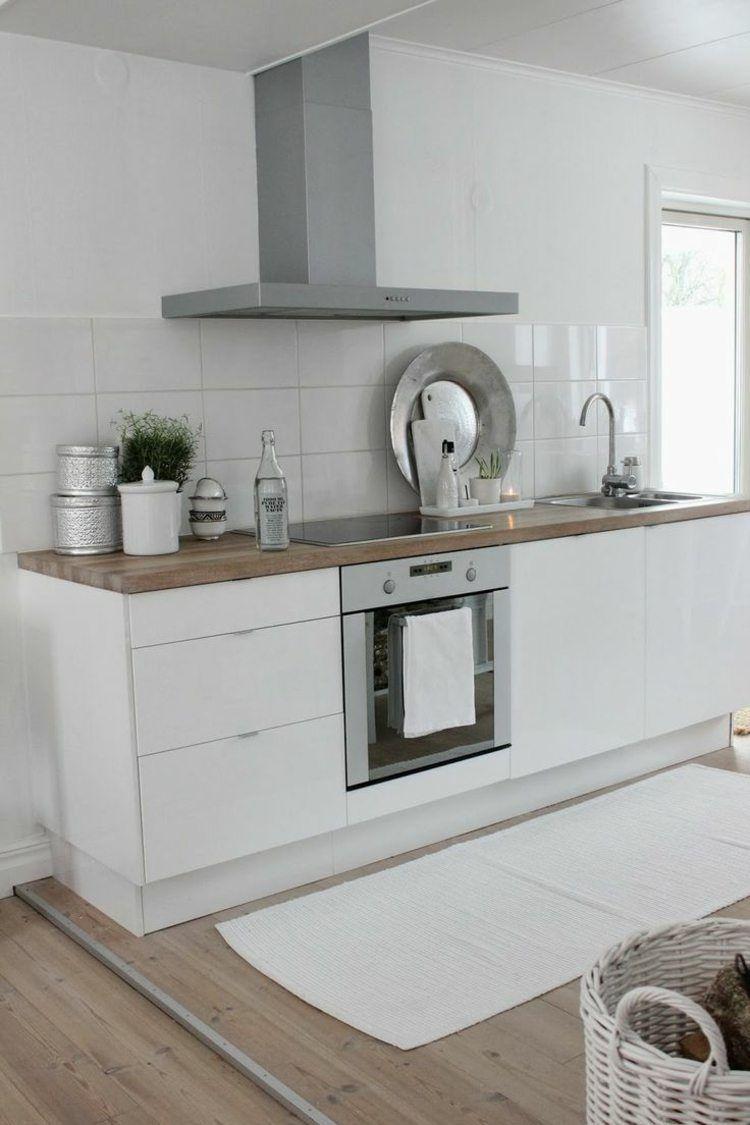 decoration cuisine scandinave bois  Cuisine contemporaine blanche