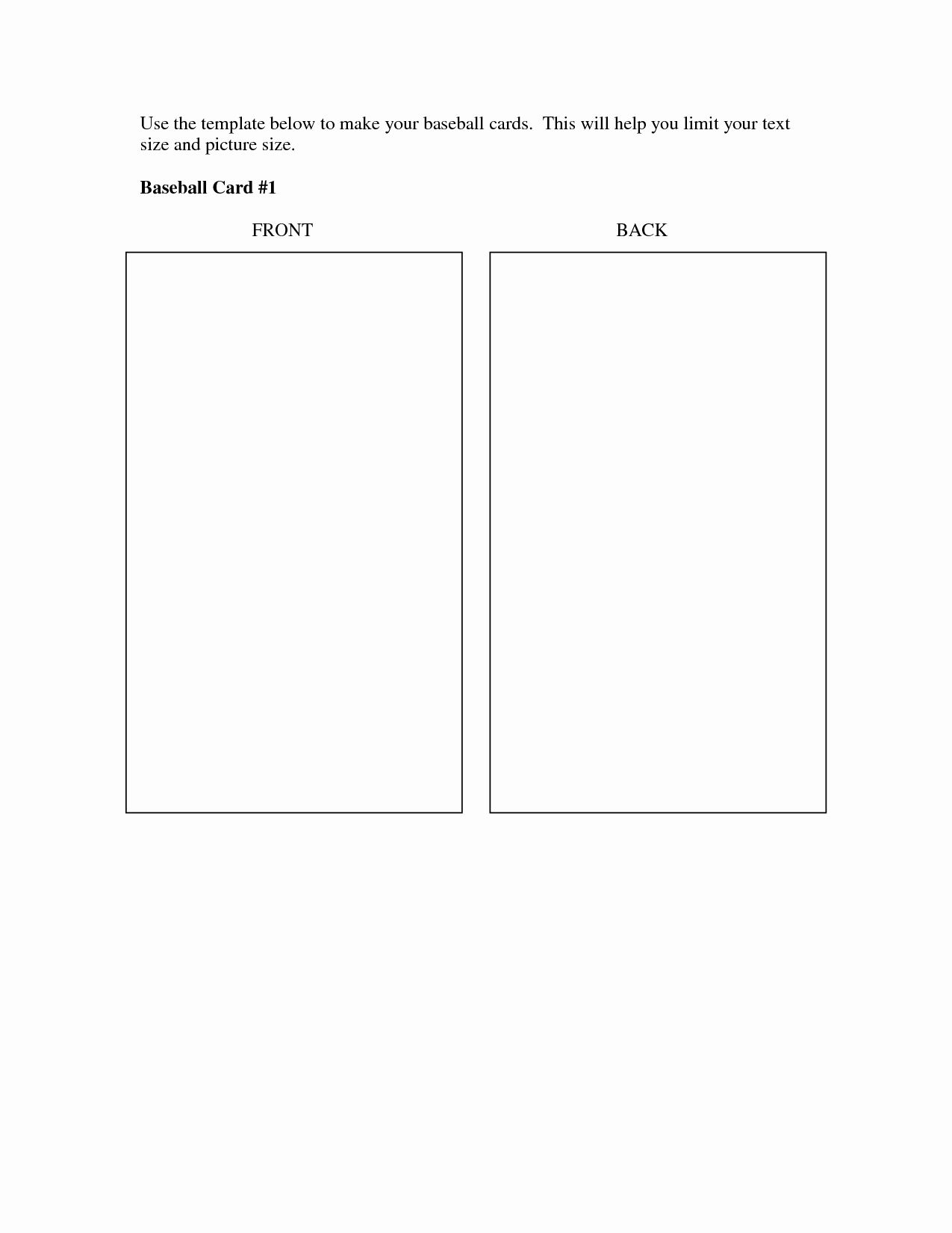 Baseball Card Size Template New Best S Of Baseball Trading Card Template Printable Trading Card Template Baseball Card Template Baseball Trading Cards