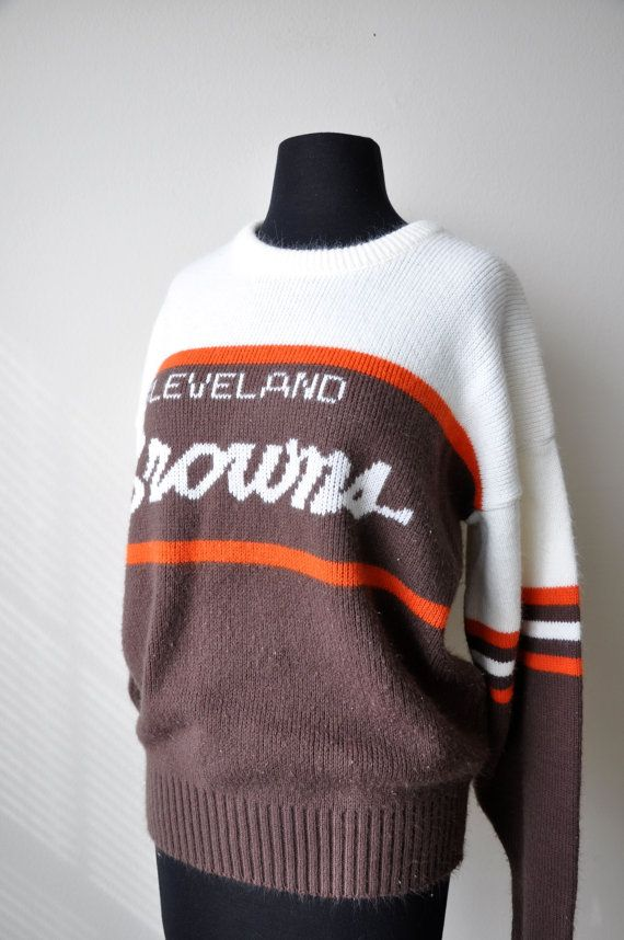 399b56506 Vintage Cleveland Browns Large Oversized Sweater by bfyvintage