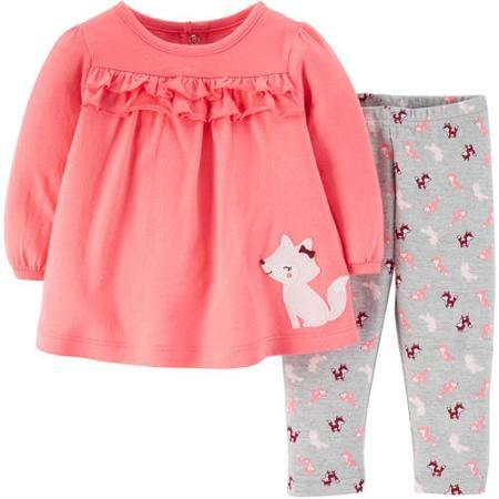 bc07ae38b Child Of Mine by Carter s Newborn Baby Girl Top and Pants Outfit 2 ...