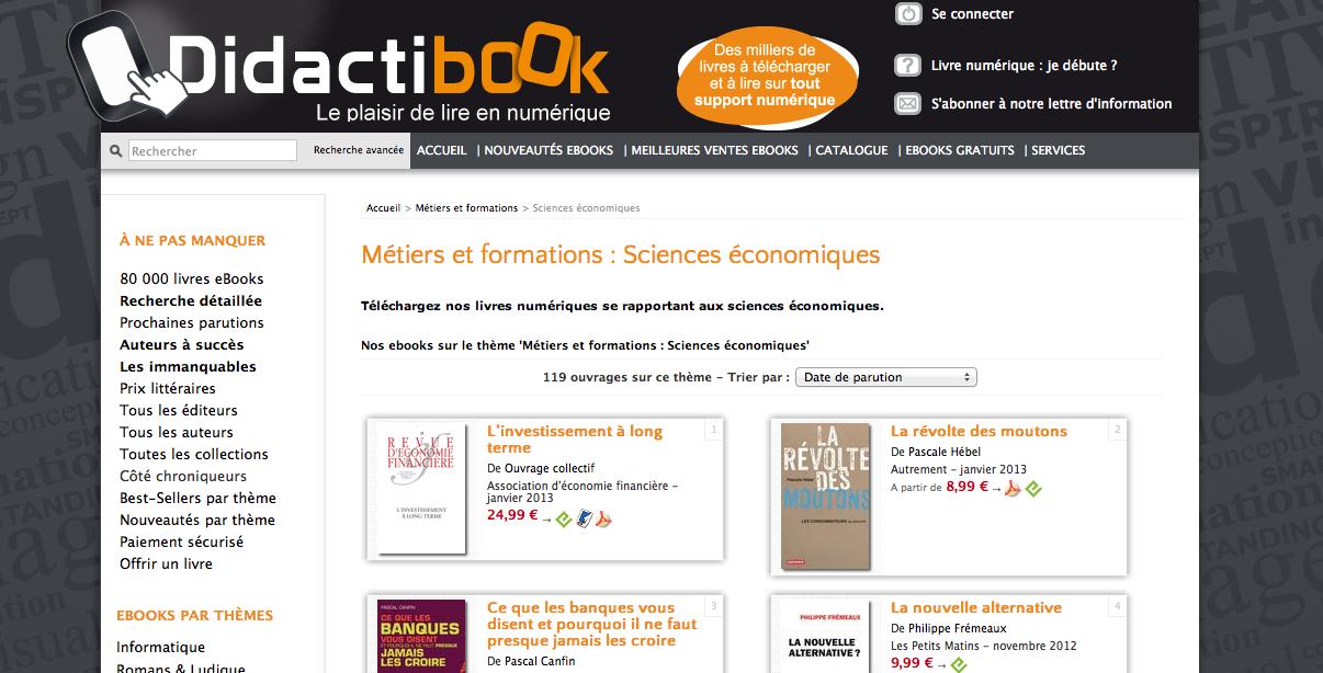 Rayon Sciences Économiques  http://www.didactibook.com/theme_et_tag/7/Metiers%20et%20formations/184/Sciences%20economiques