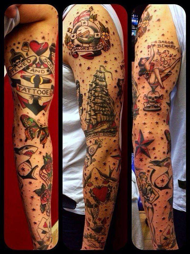 Tattoo Jerry Flash Sailor Pin