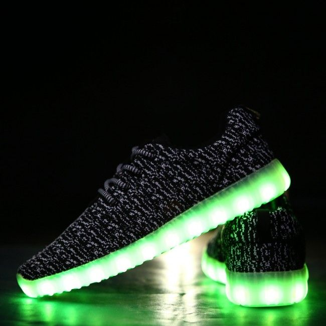 new styles 9e794 73db2 Low Cut Kids Yeezy Boost LED Light Up Shoes | LED Light Up ...