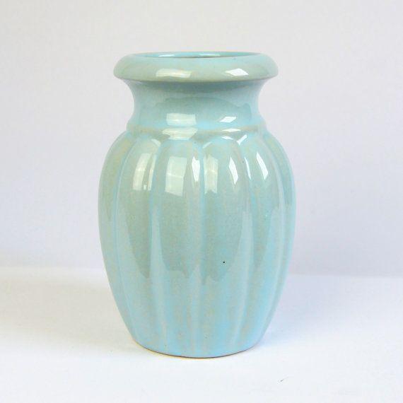 Light Blue Scheurich Keramik 292 15 Baby Blue Vase West German