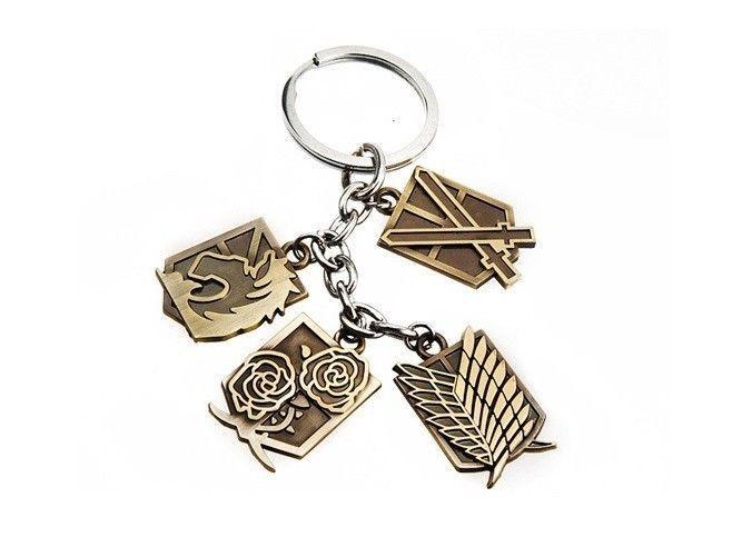 Attack on Titan Shingeki no Kyojin Scouting, MP, Garrison Legion Key Chain